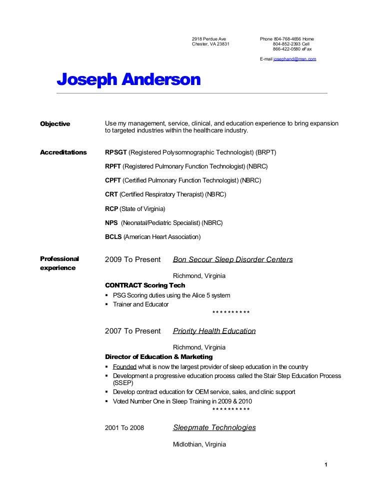 joes resume