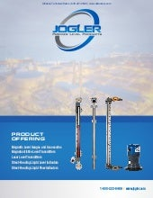Jogler Magnetic Level Gauge, Magnetostrictive Level Transmitter, and Laser Level Transmitter Product Catalog