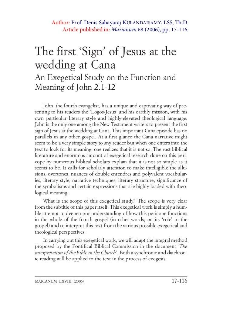 exegesis john wedding at cana