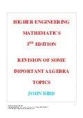 John bird   higher engineering mathematics - 5e - remedial algebra