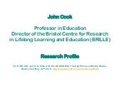 John cook research profile as of may 2013