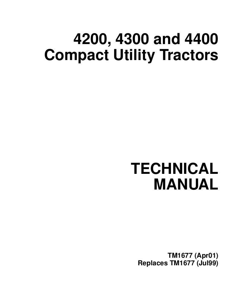 John Deere 4200 4300 4400 Repair Manual | John Deere 4200 Wiring Harness |  | SlideShare