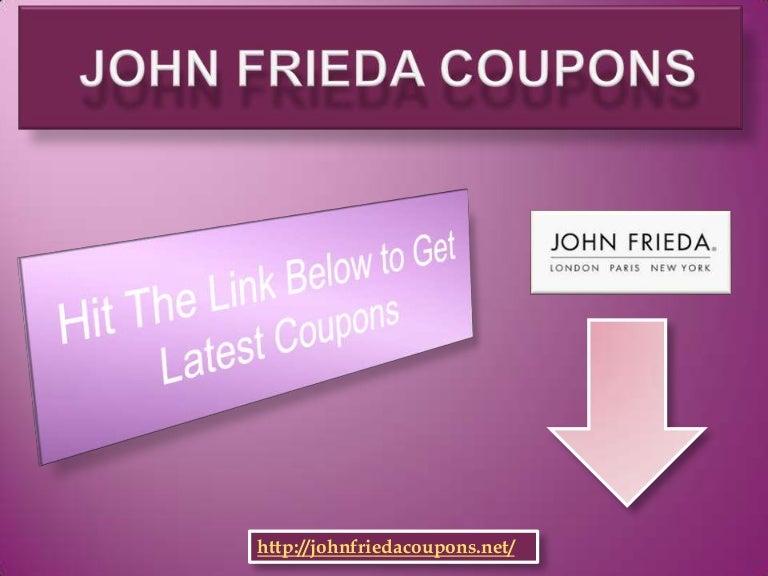image relating to John Frieda Coupons Printable called John frieda coupon codes