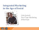 Keynote Address by John Jantsch - Integrated Marketing in the Age of Social