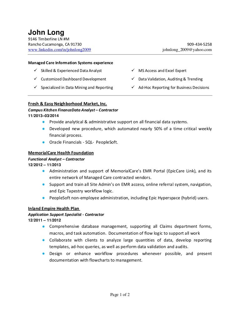 john long resume april 2014