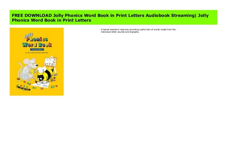 Free Download Jolly Phonics Word Book In Print Letters Audiobook Stre