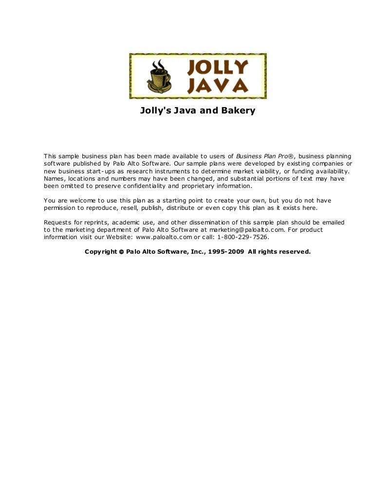 jollys java bakery business plan