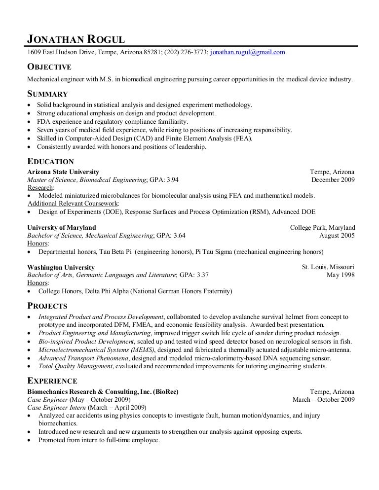 Jonathan Rogul Resume