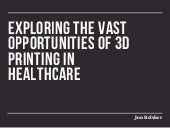 Opportunities for 3D Printing in Healthcare