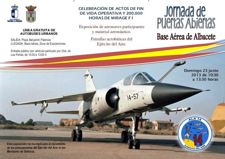 Jornada Puertas Abiertas Base Aerea Albacete Los Llanos