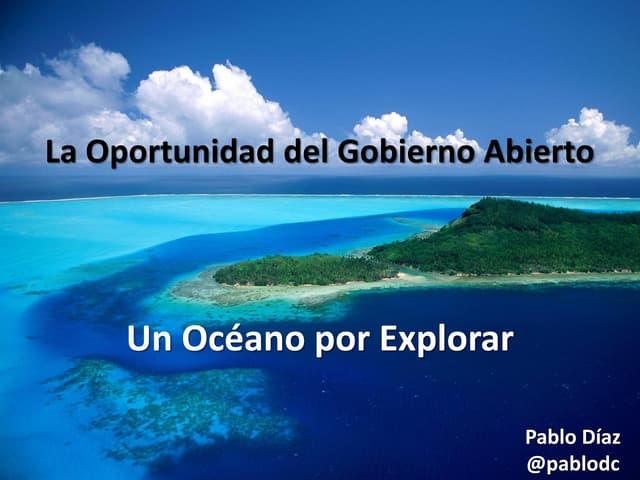 Gobierno Abierto - Un oceáno por explorar