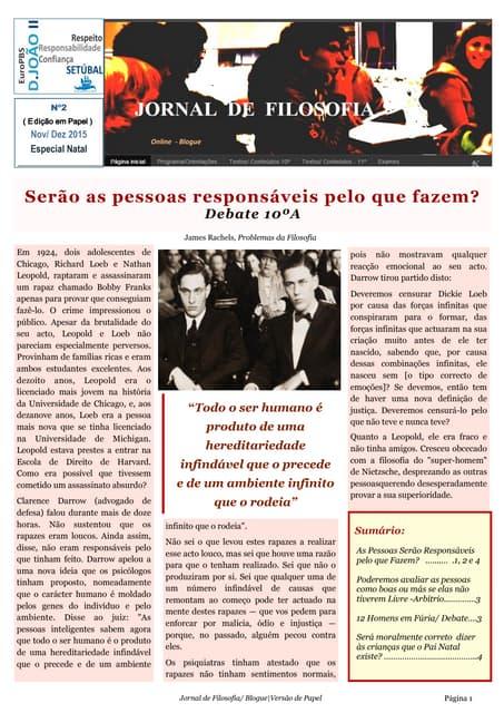 Jornal de Filosofia - Versão Papel - nº2
