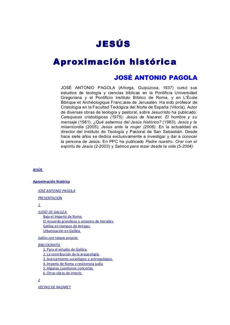 Jose antonio pagola aproximación historica de jesús de nazaret