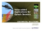 Value Added Applications for Optech Sensors