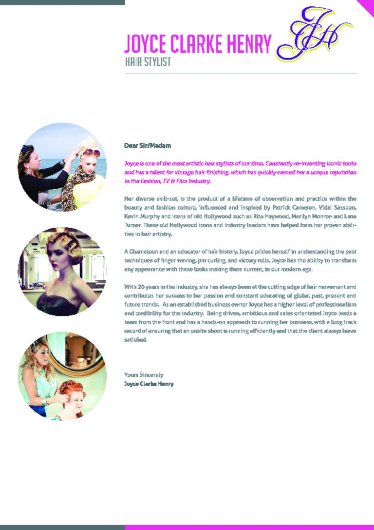 hairstylist cover letters