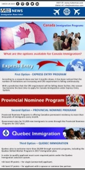 Best immigration option for doctors to canada