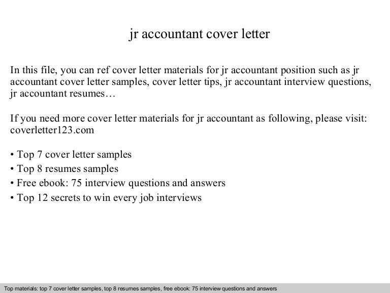 Accounting Resume Cover Letter Cover Letter Sample For Accounts Resume  Samples Junior Accountant Resume Writing Resume