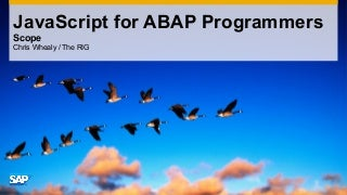 JavaScript for ABAP Programmers - 4/7 Scope