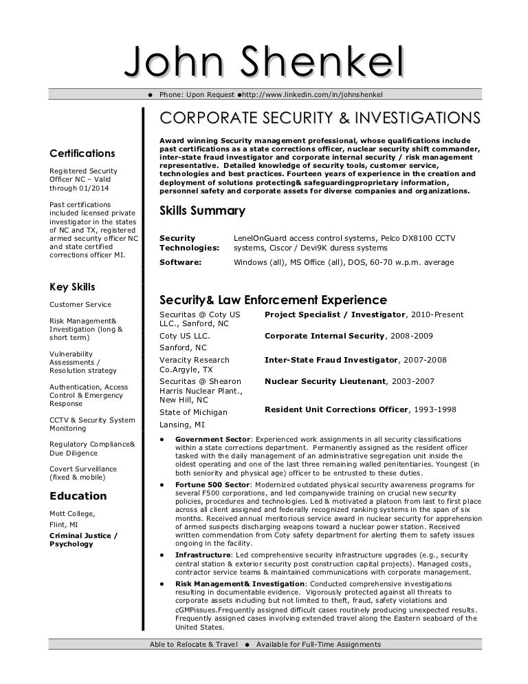 SlideShare  Background Investigator Resume