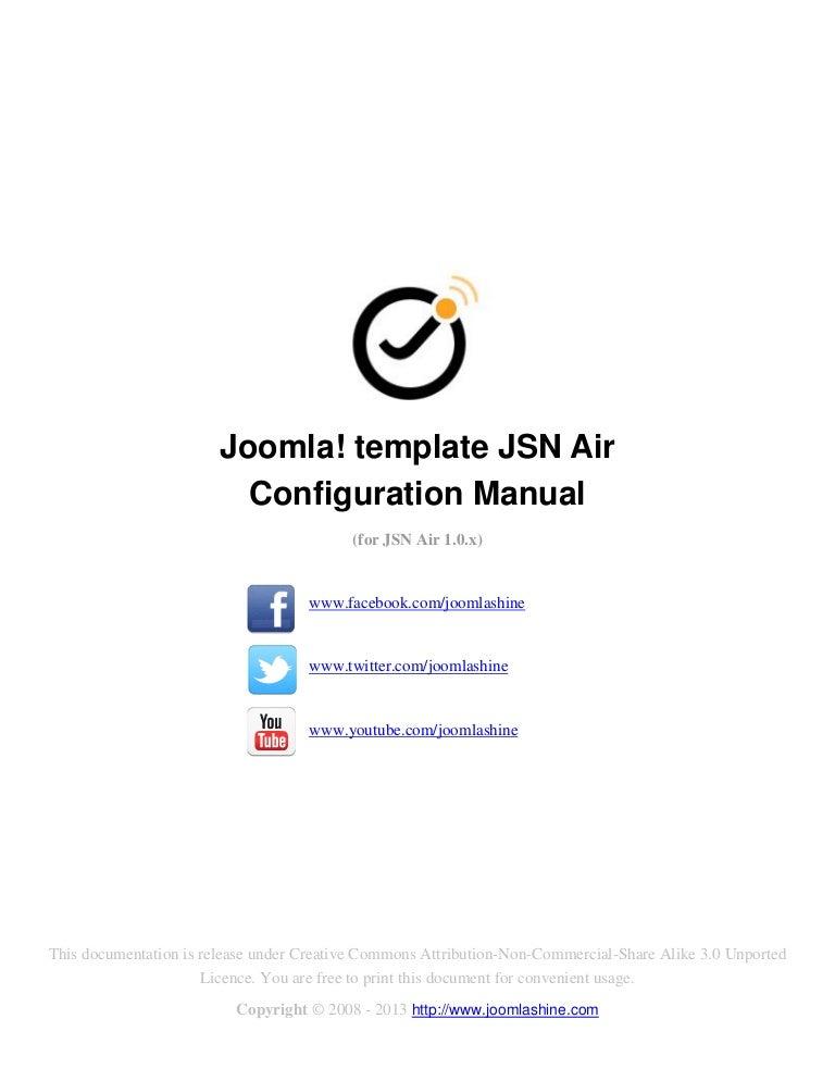 JSN Air Configuration Manual
