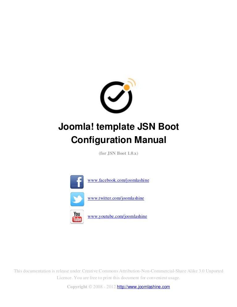JSN Boot Configuration Manual