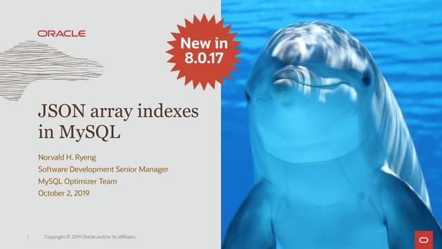 JSON Array Indexes in MySQL