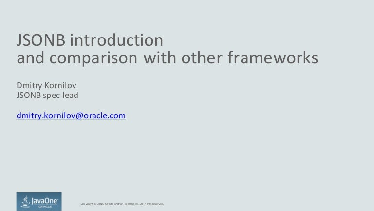 JSONB introduction and comparison with other frameworks