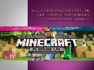 Jual cd dvd minecraft offline game komputer pc