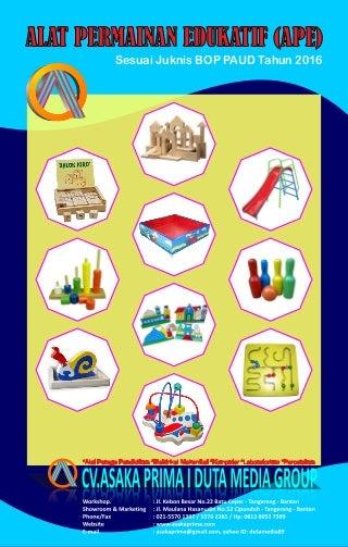 Cari PRODUKSI APE [mainan edukatif  BOP Paud tahun 2016~ RAB APE PAUD Juknis Bantuan Alat Permainan Edukatif (APE) 2016
