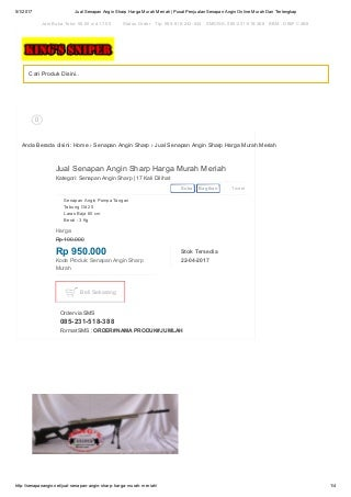 Jual senapan angin sharp harga murah meriah 085231518388