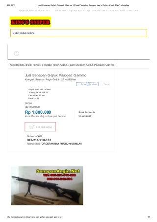 Jual senapan gejluk pasopati gammo wa 085 231-518-388