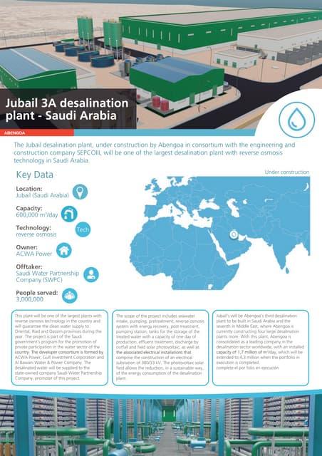 Jubail 3A desalination plant – Saudi Arabia