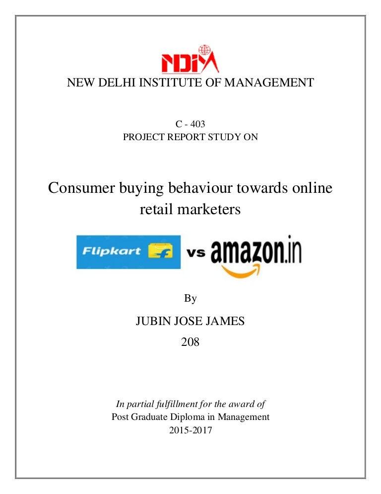 4d95b2561 Consumer buying behaviour towards Online Retail  Flipkart v Amazon