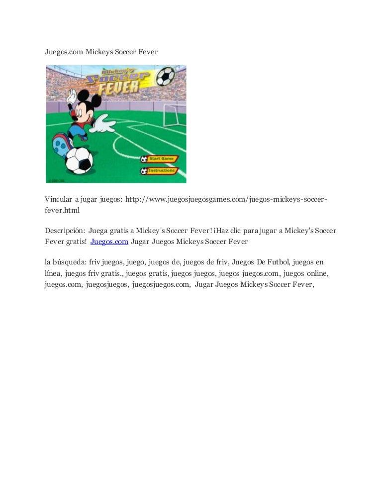 Juegos Com Mickeys Soccer Fever