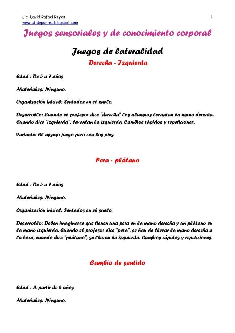 Juegos Lateralidad