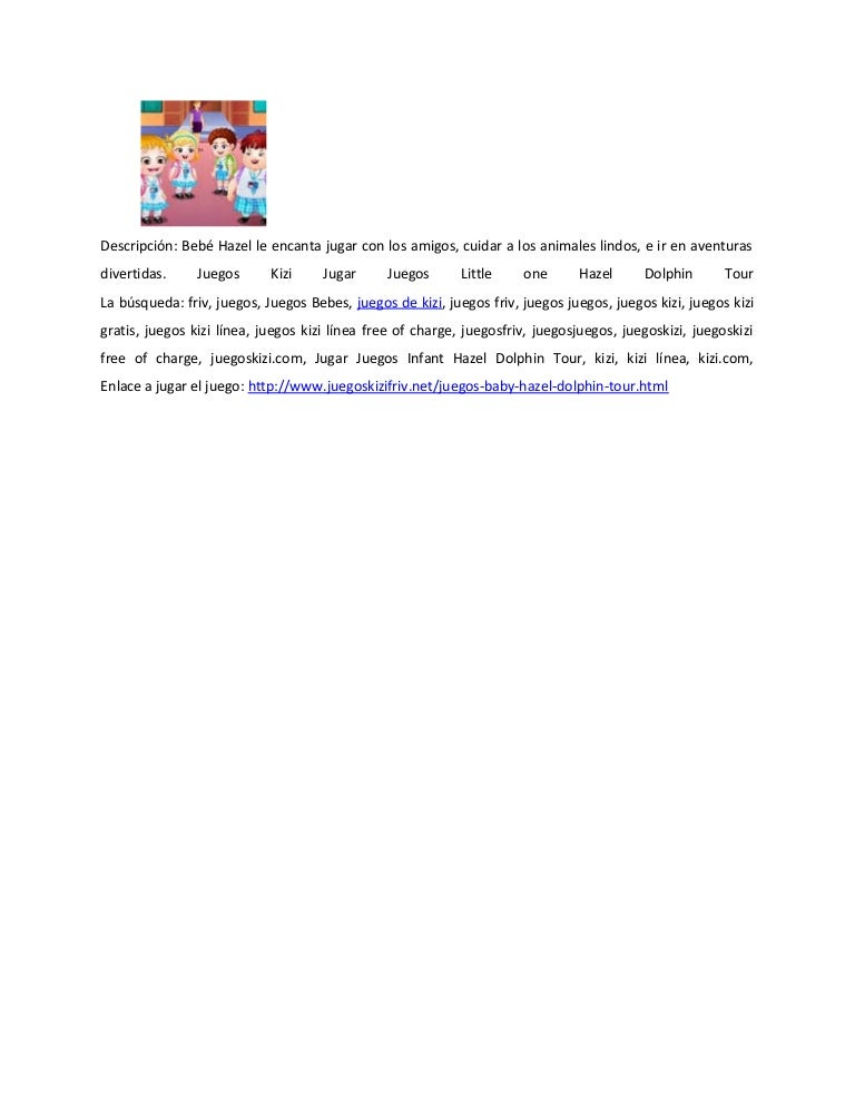 Juegos Baby Hazel Dolphin Tour