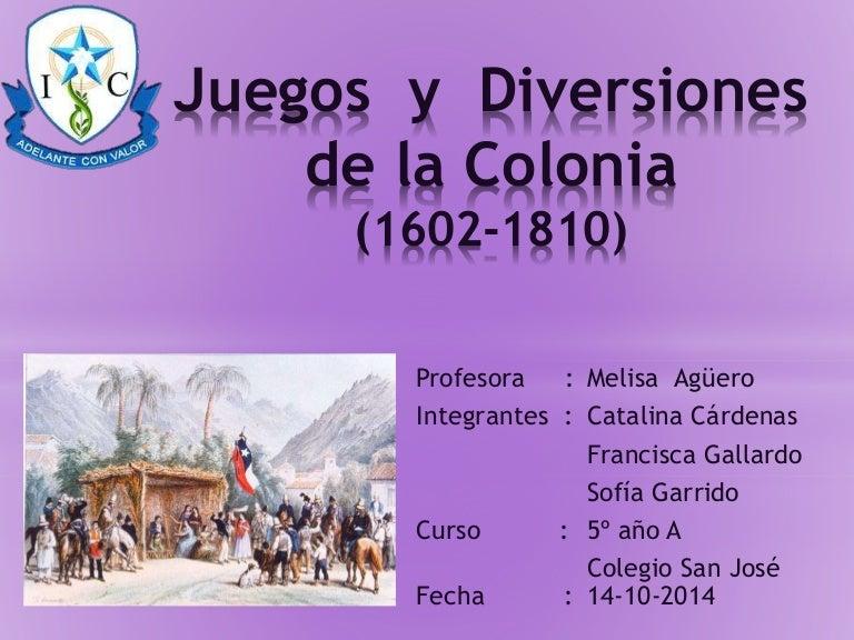 Juegos y diversiones chile colonial for Informacion sobre los arquitectos
