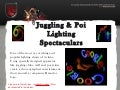 Juggling & Poi LED Light Entertainment Stage Show