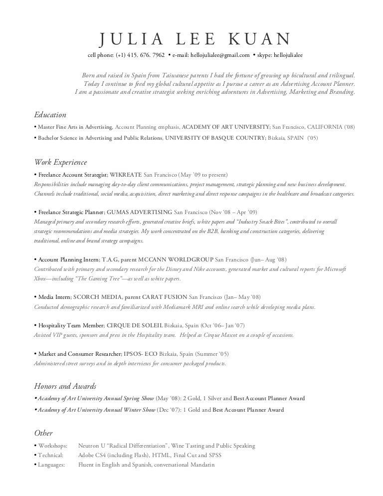 SlideShare  Advertising Resume