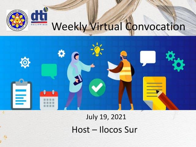 Weekly Virtual Convocation July 19, 2021