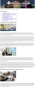 Immersive Technology Strategies July 2013 E-Newsletter