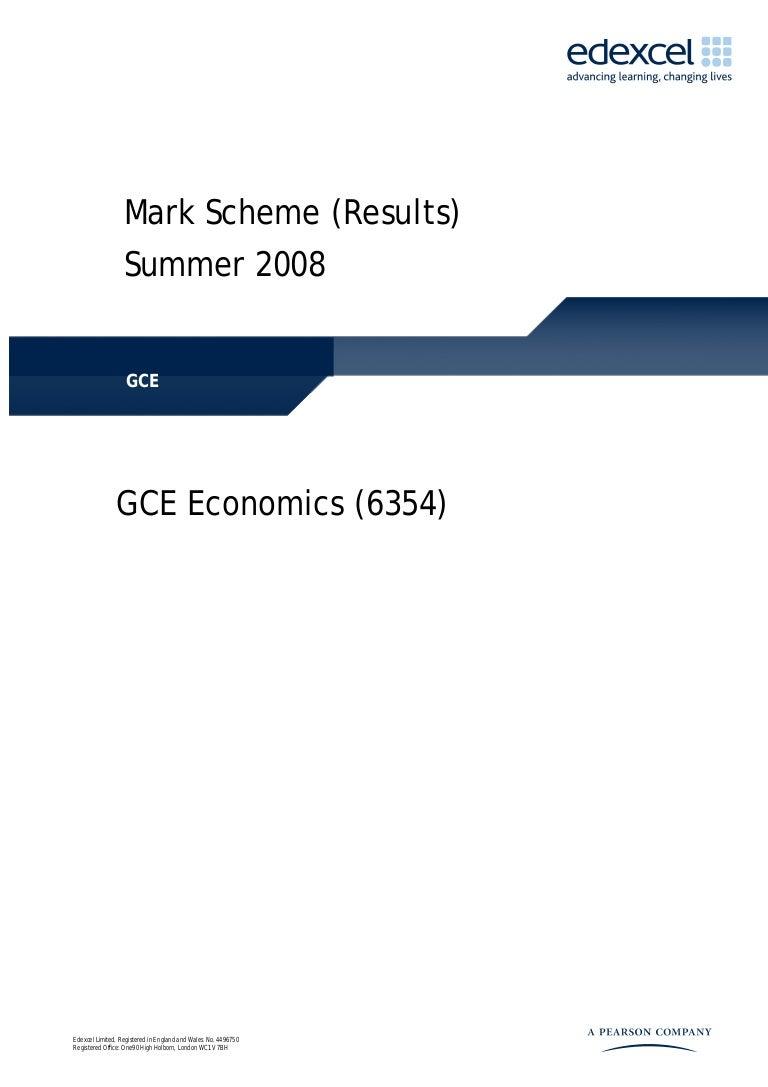 Unit Jun 08 - Mark Scheme