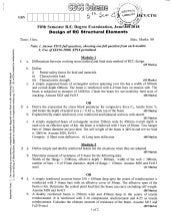 5th Semester Civil Engineering Question Papers June/july 2018