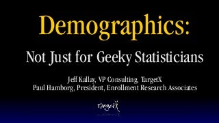 June 18 Free on Friday Webcast Demographics