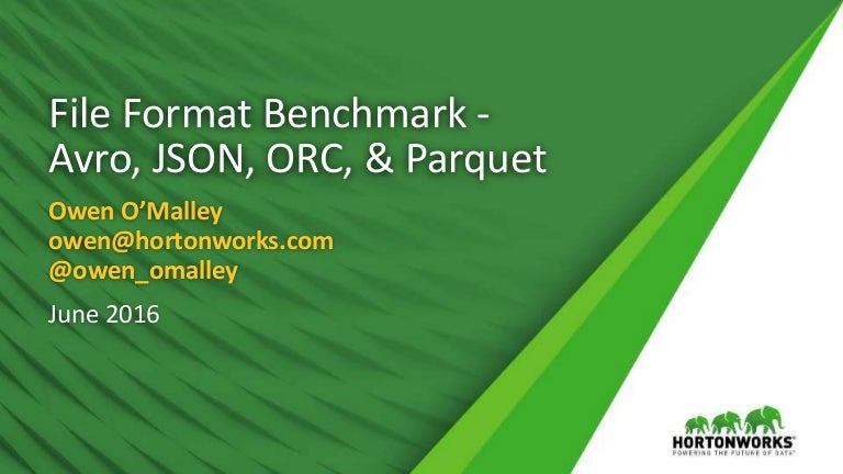 file format benchmark avro json orc parquet