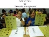 Classroom Management in the Chinese classroom