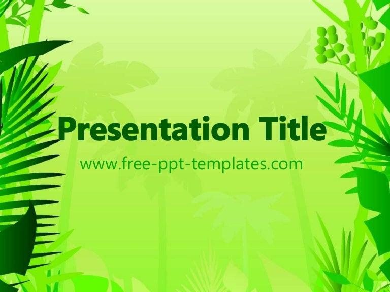 Free rainforest powerpoint #22315   sagefox free powerpoint templates.