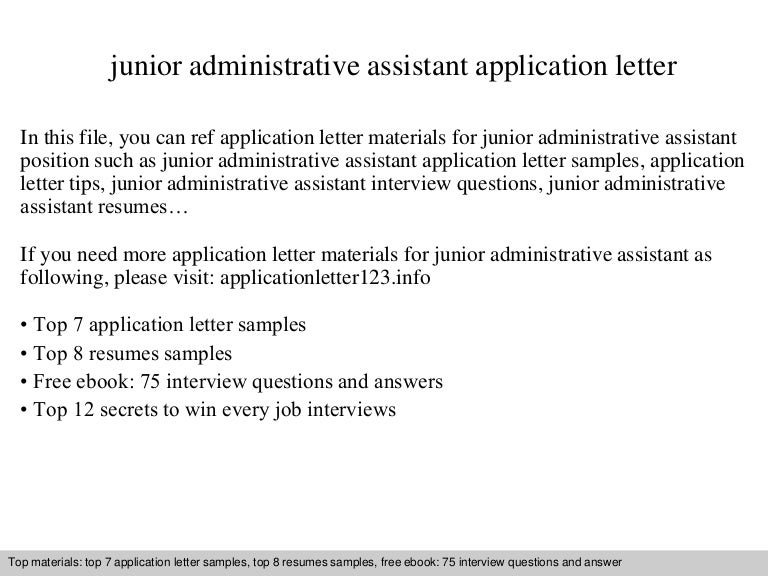 junior administrative assistant application letter - Administrative Assistant Interview Questions Answers