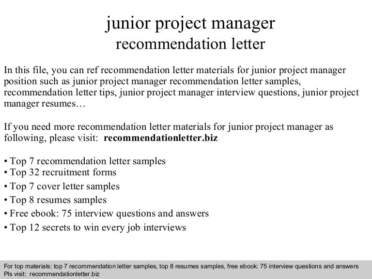 junior project manager resumes