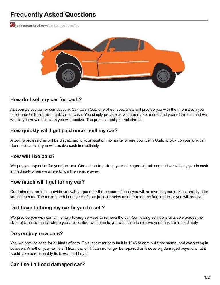Junk Car Cashout - FAQ